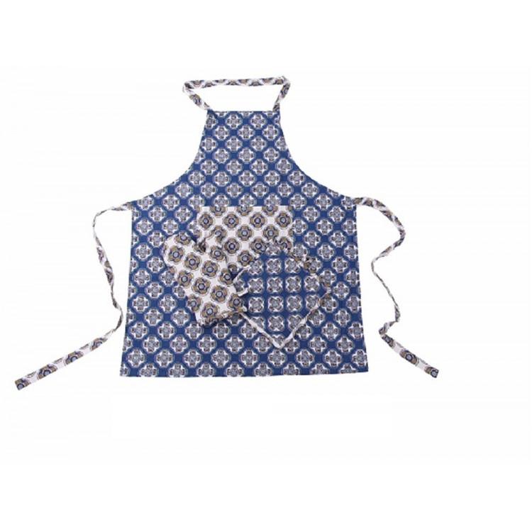 Conjunto de delantal, manopla y agarrador - Modelo geométrico