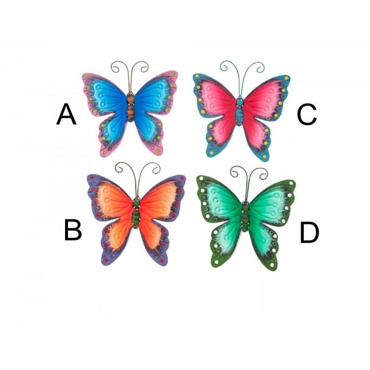 Decoración de pared en metal - Modelo mariposas (25.5x23 cm)