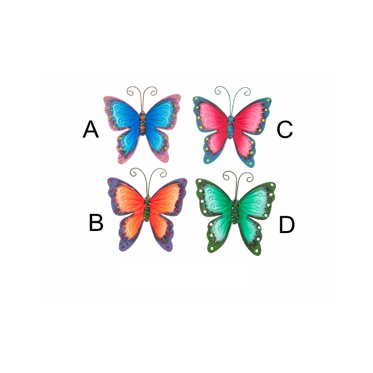 Decoraci n de pared en metal modelo mariposas for Figuras de metal para decorar paredes