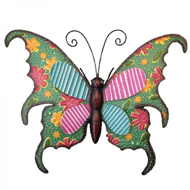 Decoración metálica de pared - Modelo mariposa (57x46 cm)