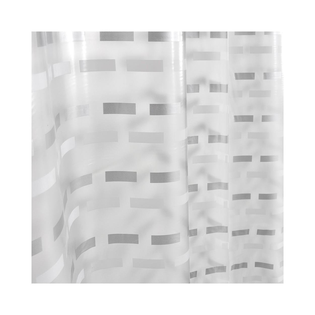 Cortina de ba o modelo lines 180x180 cm hogar y m s - Cortinas de bano transparentes ...