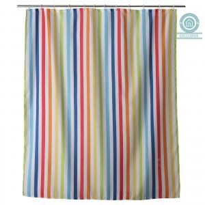 Cortina de baño líneas de colores (180x200 cm)