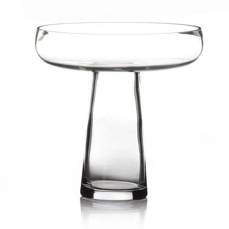 Jarrón de vidrio transparente (25.5x25.5x25 cm)