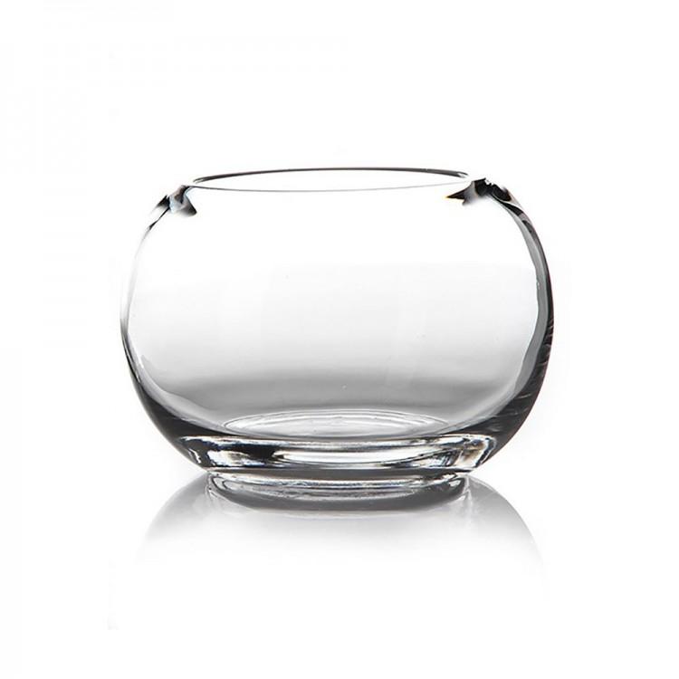 Jarrón esférico transparente