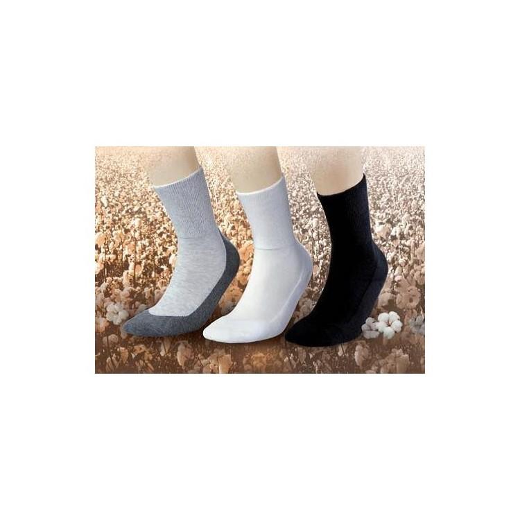 Calcetines Algodón en color  Gris Ceniza