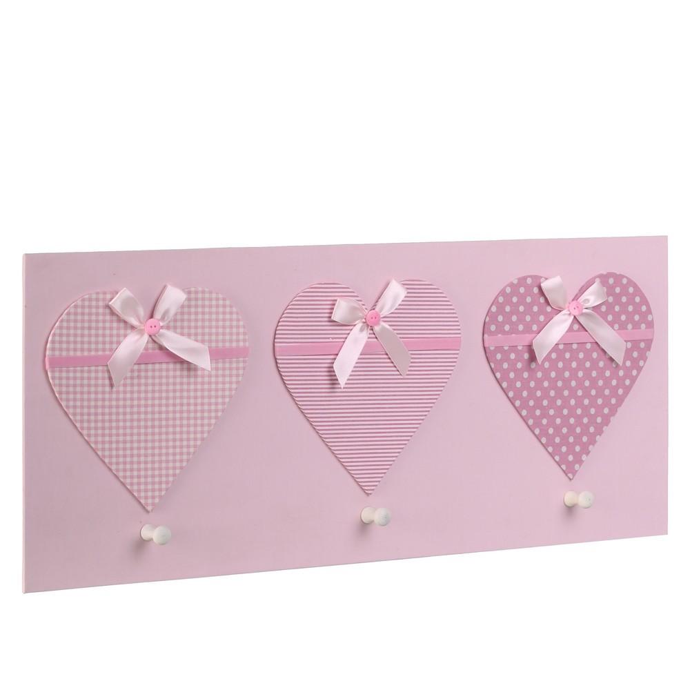 Percha infantil rosa madera (72x30x3,50)