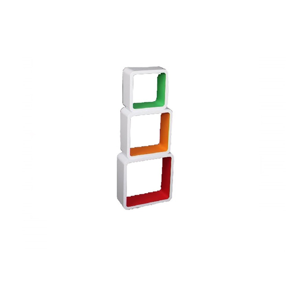 Estantería De Módulos De Madera Color Blanco 27x27x10 Hogar Y Más