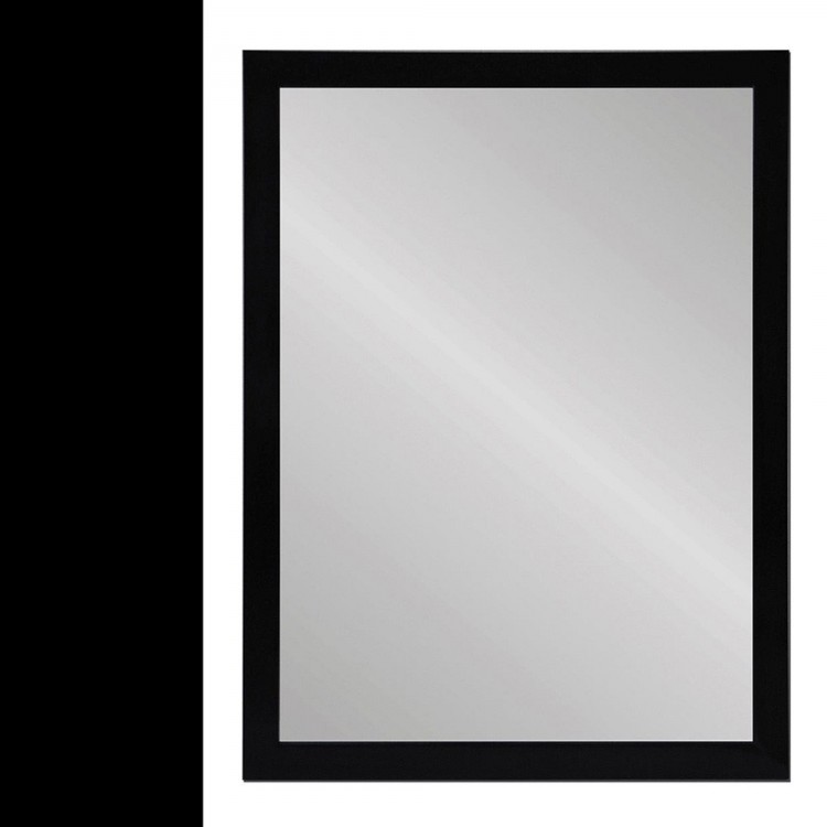 Espejo pared negro polietileno hogar y m s for Espejo marco negro