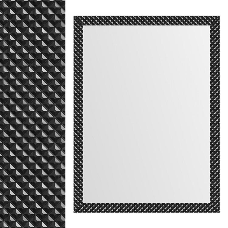 Espejo de  pared Negro con formas geométricas diseño moderno.