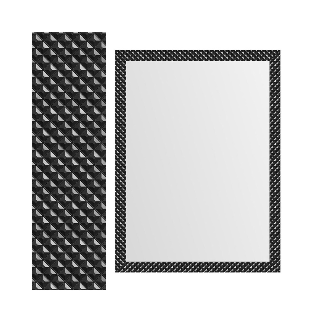 Espejo de pared negro con formas geom tricas dise o for Espejos de formas