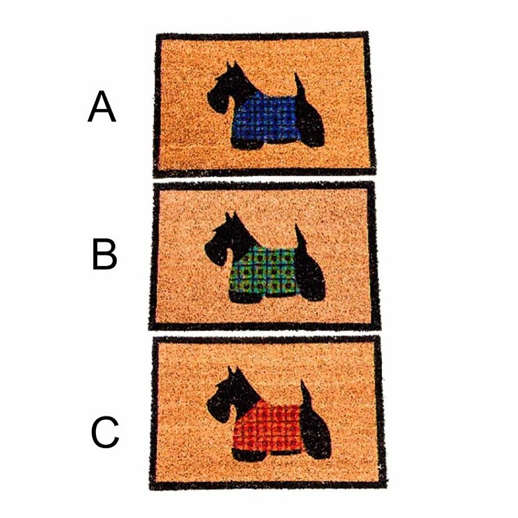 Felpudo de fibra de coco - Modelo perro (60x40 cm)