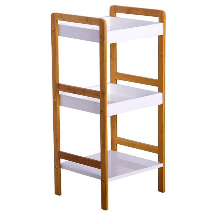 Estantería de bambú, tres niveles (33,50x33x80)