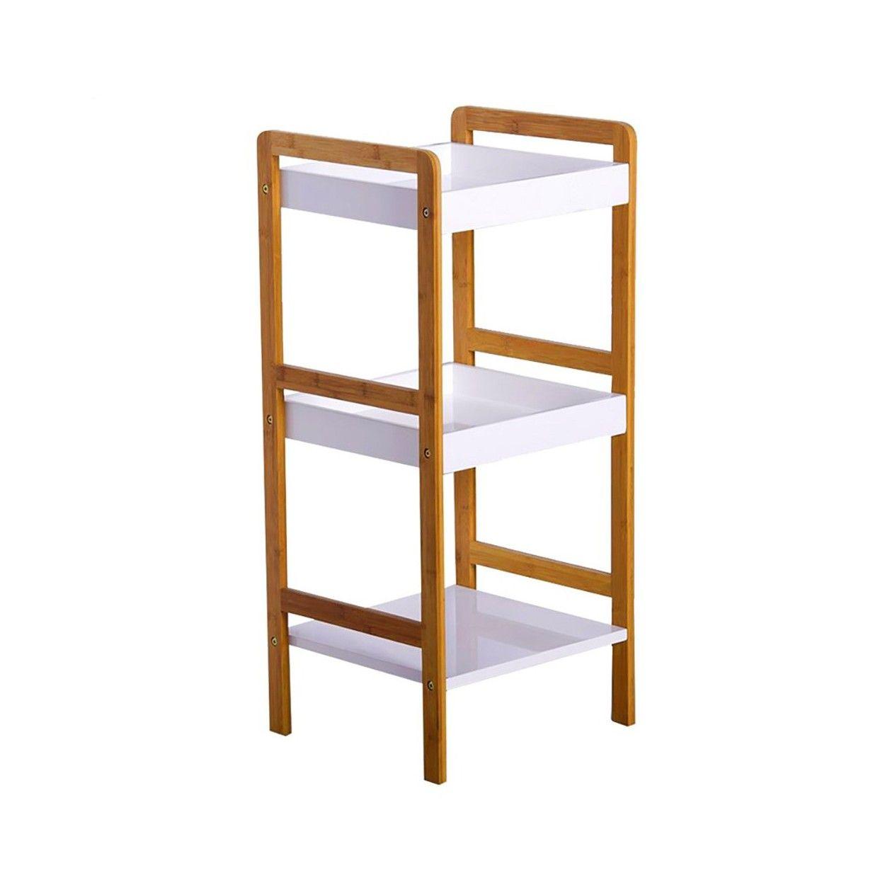 Estanter a de bamb tres niveles 33 50x33x80 hogar y m s for Estanterias de bambu para bano