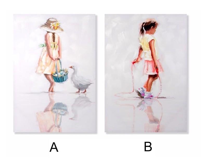 Cuadro pintado a mano - Modelo niñas (70x100x3 cm)