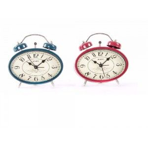 Reloj despertador en metal (11,8x4x11,3)