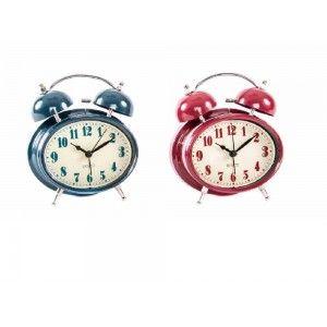 reloj despertador en metal (13,1x5,8x15,5)