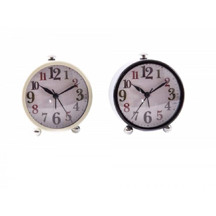 Reloj despertador en metal (9,8x5,7x11,3)