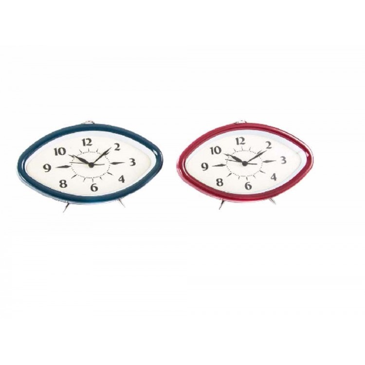 Reloj despertador en metal (19,6x6,2x12,2)