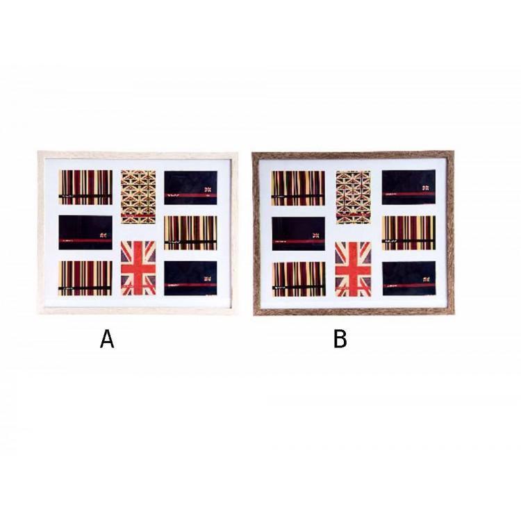 Marco multifotos en madera (52,5x43x3)