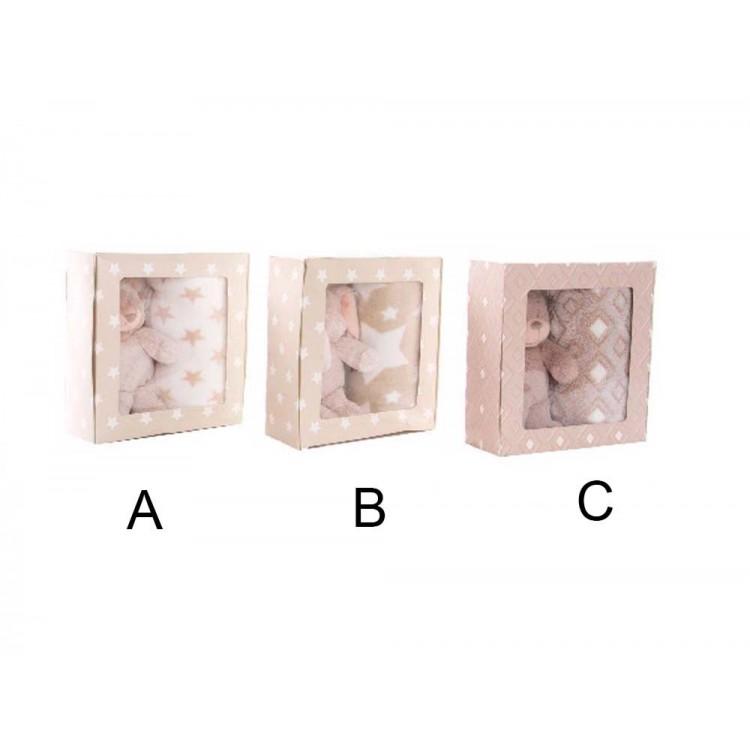 Manta infantil con peluche (100x75 cm)