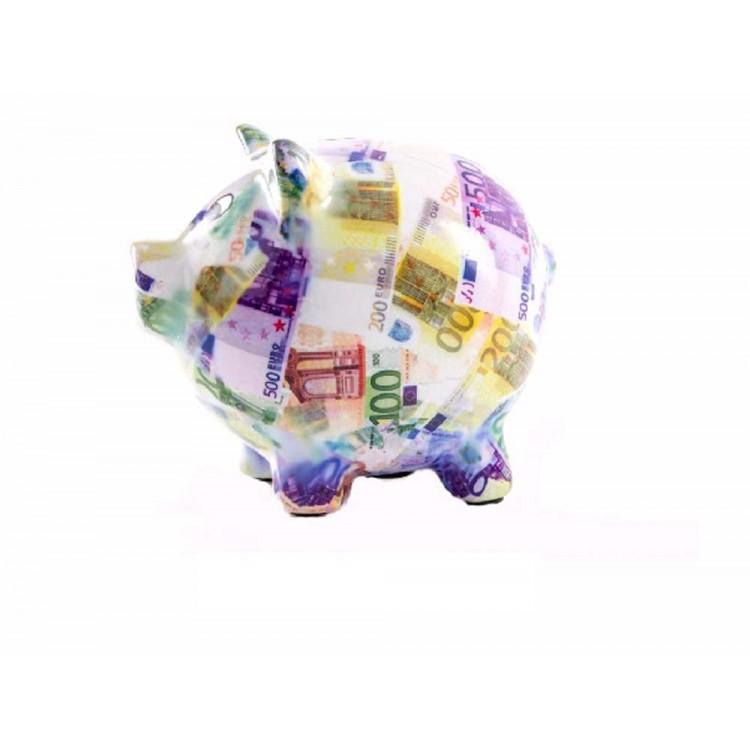 Hucha de cerámica forma de cerdo Hogar y Mas