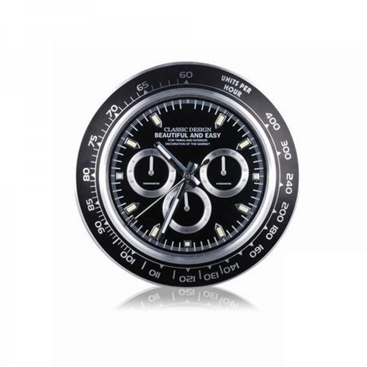 Reloj de Pared Negro diámetro 35 cm