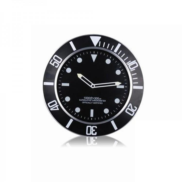 Reloj de Pared Negro 35 cm de diámetro