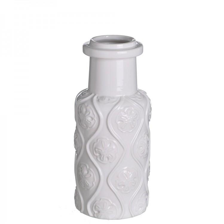 Jarrón cerámica modelo flores (13,70x13,50x30,80)