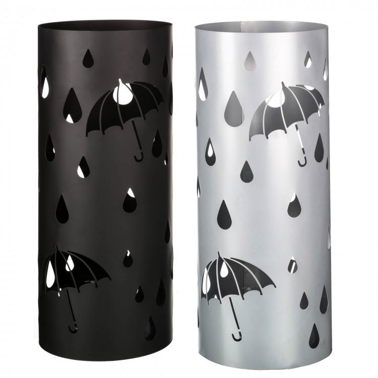 Paragüero modelo paraguas y gotas en metal, Hogar y Mas