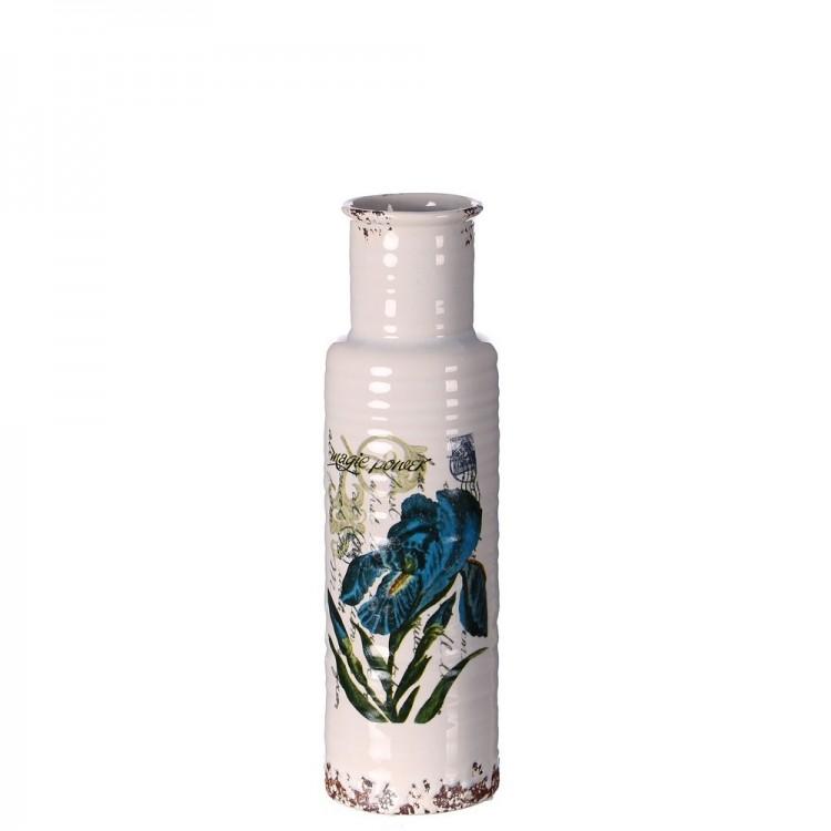 Jarrón de cerámica modelo flor (10,60x10,60x38,40)