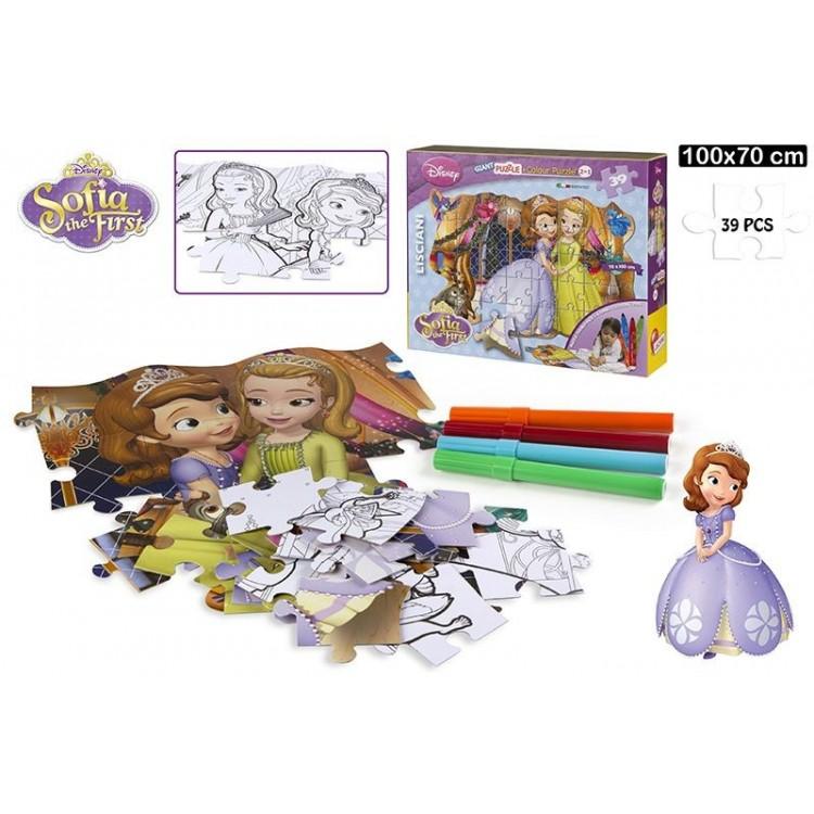 """Puzzle gigante """"Princesa Sofía"""" (100x70 cm). 39 piezas"""