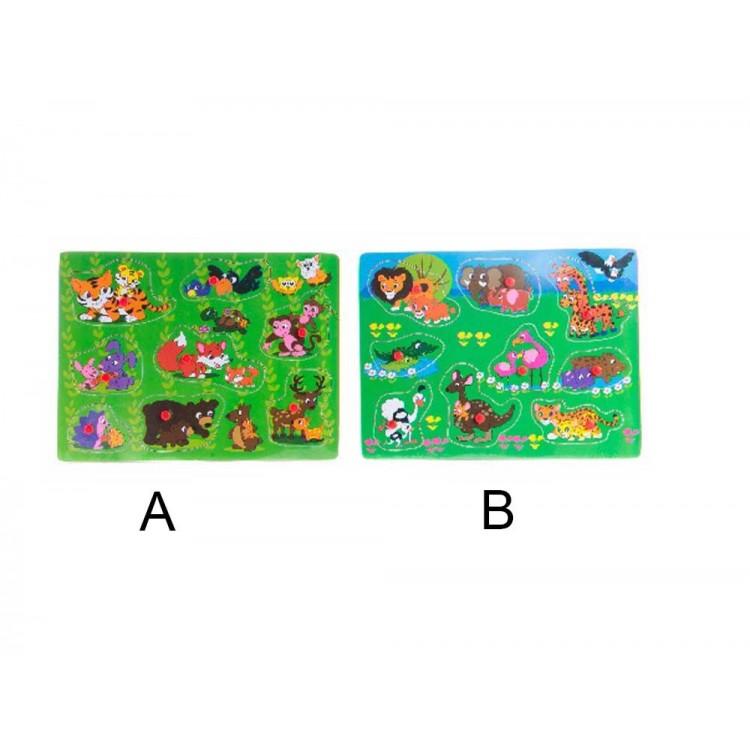 Puzzle infantil de madera (29.5x22x1.7 cm)