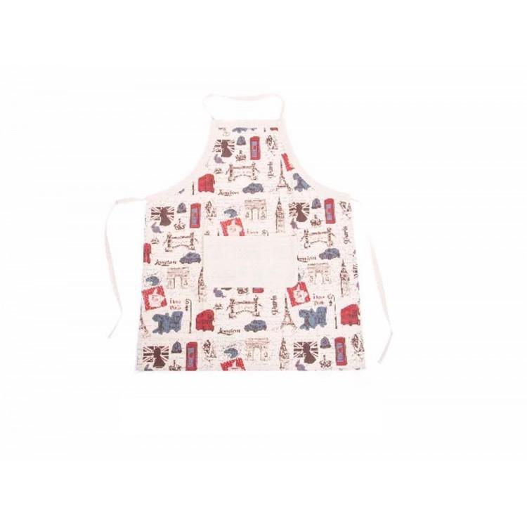 """Delantal de cocina - Modelo """"London y Paris"""" (70x85 cm)"""
