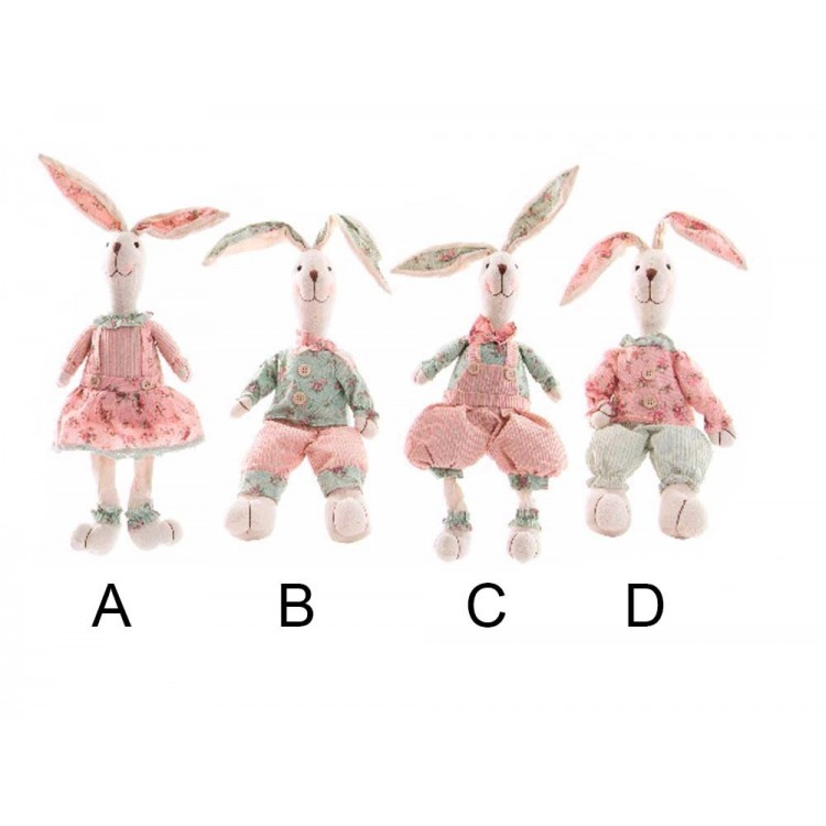 Figura conejo de poliester (13x9x35 cm)