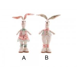 Figura conejo de poliester (13x7x33 cm)