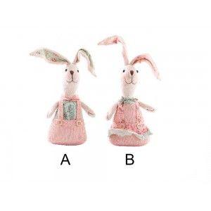 Figura conejo de poliester (11x7x22 cm)