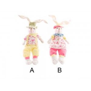 Figura conejo en poliester (15x8x32 cm)