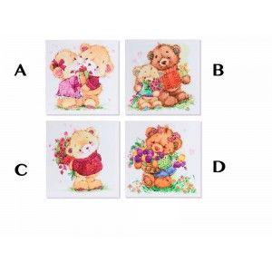 Model canvas bears (25x25x2)