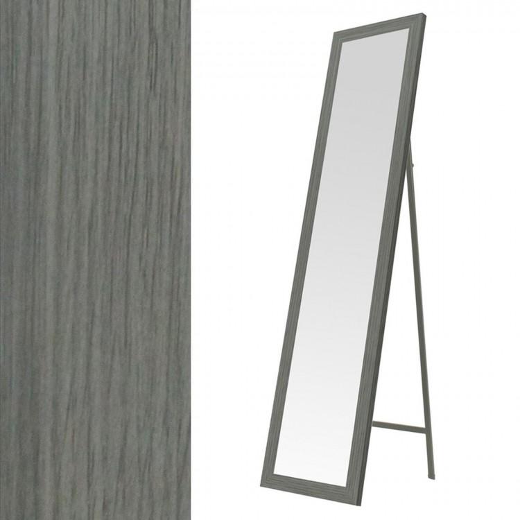 Hogar y Mas- Espejo de pie en mdf color gris.