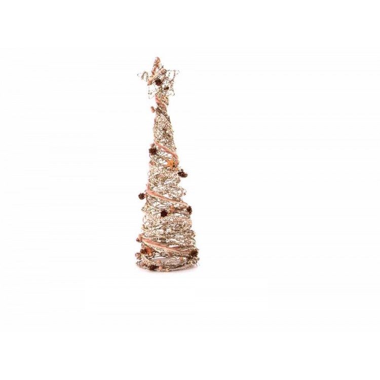 Arbol de navidad en ratán (17x17x59)