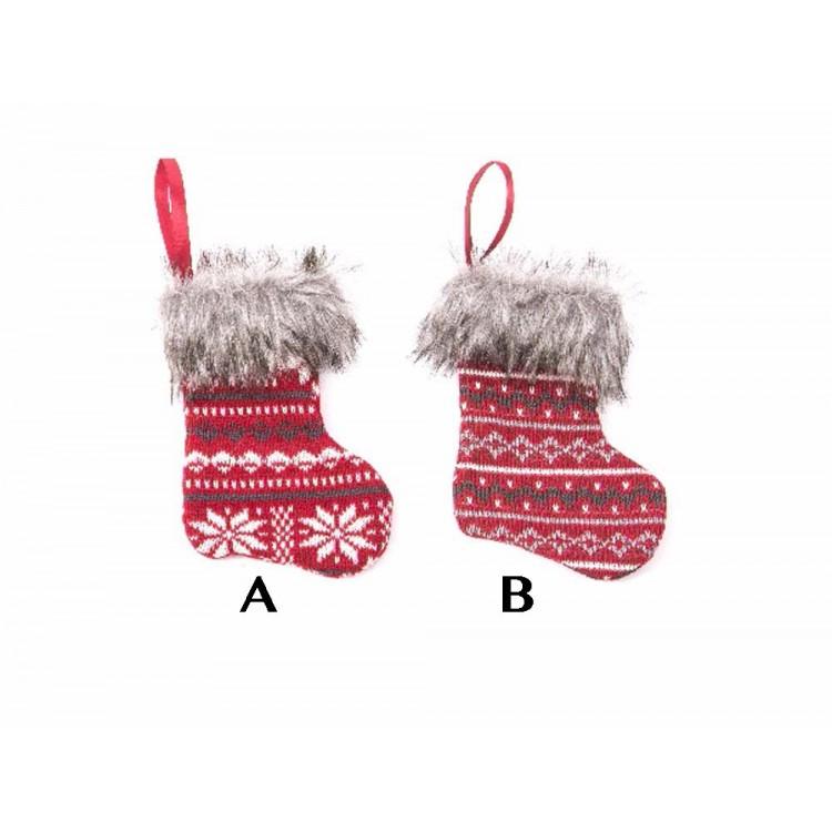 Calcet n decorativo de navidad 20 cm hogar y m s - Calcetin de navidad ...