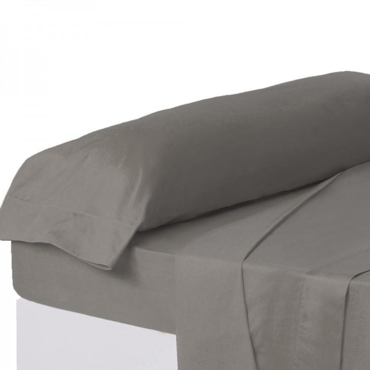 Funda de almohada gris cama 90 cm