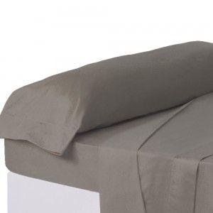 Funda de almohada gris cama 135 cm