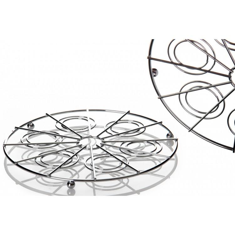 Salvamantel cromado (21x21x1.5 cm)