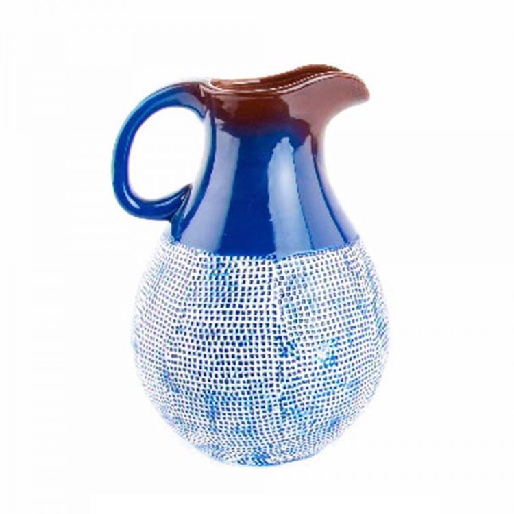 Jarrón de Cerámica Azul (22,5x21,3x30,8 cm)
