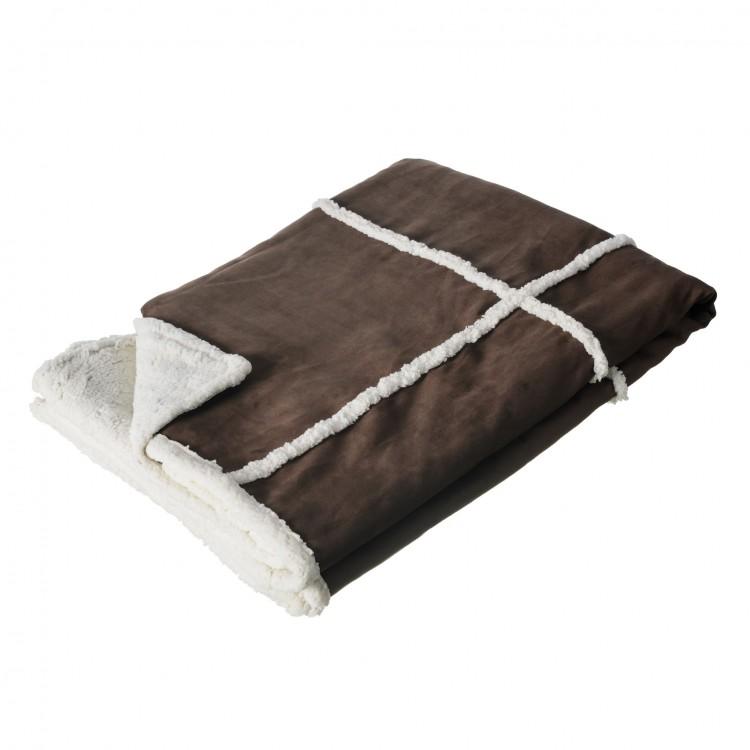 Manta sofá modelo bufalo marrón (170x130)