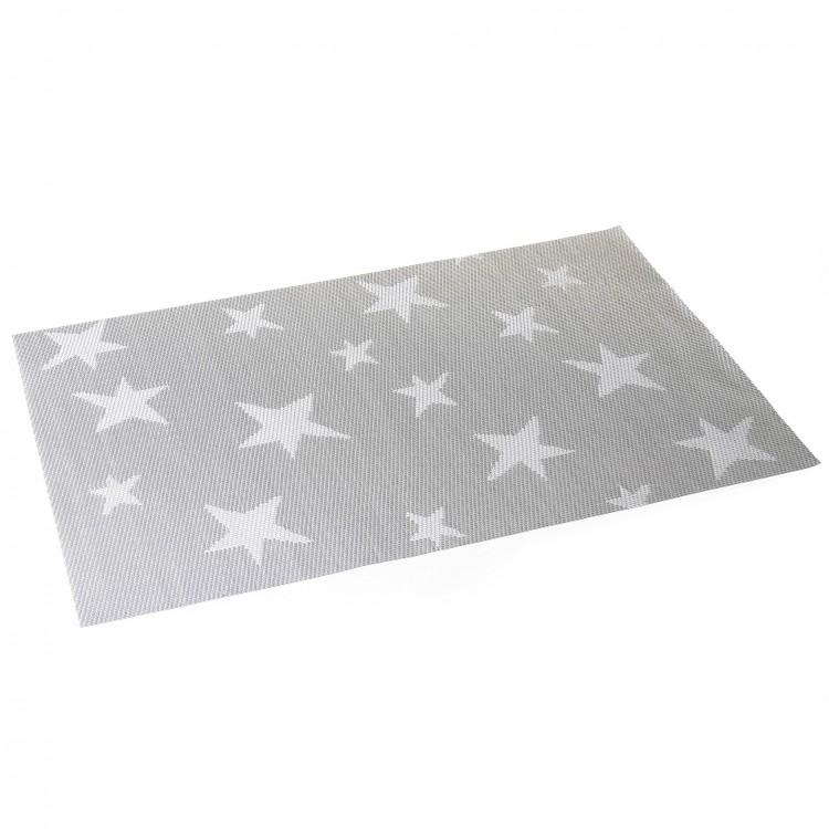 Salvamantel modelo estrellas plateadas (30x45)