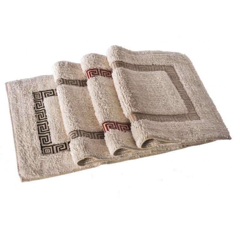 Alfombra para baño de algodón - Modelo greca (60x40 cm)