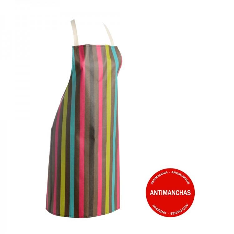 Delantal Lineas Multicolor (70x80 cm)