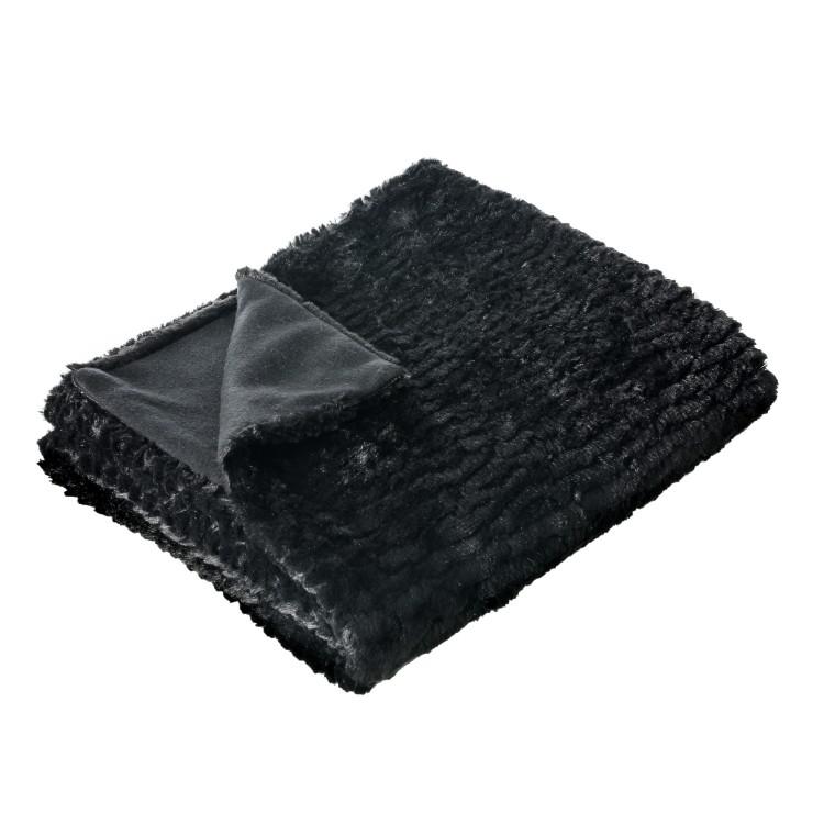 Manta de sofá - Color negro (170x130 cm)